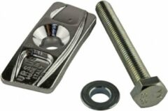 Ursus adapterplaat Jumbo M10 x 75 mm aluminium zilver