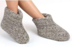 Woolwarmers Dolly - Unisex Sloffen - grijs - Maat 43 - 100% wol