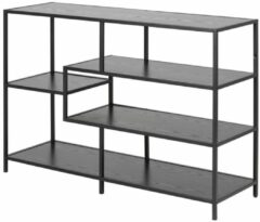 Lisomme industrieel dressoir Vic - B114 x H78 x D35 cm - 3 planken - Zwart