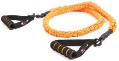 LifeMaxx LMX Power Tube Weerstandsband 125 cm - Oranje - Level 3