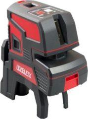 Levelfix kruislijnlaser - CL202R - zelfnivellerend - horizontale en verticale lijn - rood - 556120