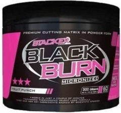 Stacker2 Black Burn Micronized 300gr Fruit Punch
