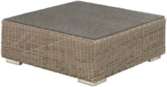 Taupe 4 Seasons Outdoor Kingston loungetafel met glasplaat 95 x 95 x 35 cm