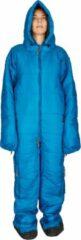 Blauwe Hygger Nanuk Mykonos Blue M - Originele slaapzak met mouwen en pijpen, met zijn 3M Thinsulate-vulling is hij warm, lichtgewicht en klein om makkelijk op te rollen