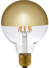 Schiefer (SPL) SPL Fila Globe LED lamp kopspiegel E27 ø9,5cm 6.5W 470lm goud extra warm wit / dimbaar