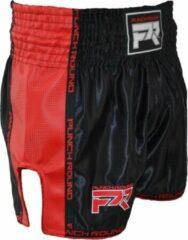 Punch Round™ Punch Round Kickboks Broekje Matte Carbon Zwart Rood XL = Jeans Maat 36