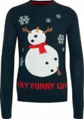 Blauwe Blend Kersttrui Funny Guy