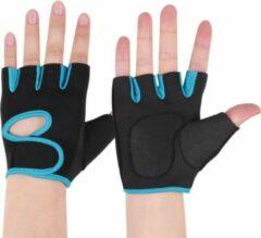 Q -Garant Fitnesshandschoenen - Sporthandschoenen - Zwart/Blauw - Maat L