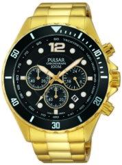 Goudkleurige Pulsar PT3720X1 horloge heren - goud - edelstaal doubl�