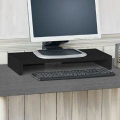 Way Basics Duurzame monitorstandaard zwart