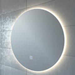 Adema Circle badkamerspiegel rond diameter 80cm met indirecte LED verlichting met spiegelverwarming en touch schakelaar JG1112-800