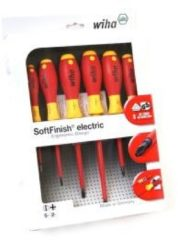 Wiha SoftFinish electric slimFix Schlitz/Phillips Schraubendrehersatz 6-tlg. 3201K6