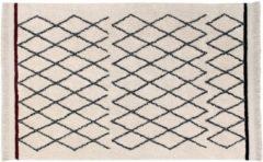 Beige Lorena Canals - vloerkleed Bereber Crisscross - 140 x 210 cm