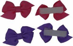 Jessidress Mini Haarclip speciaal voor kleine meisjes Haarstrikje Baby - Fushia/Paars