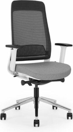 Afbeelding van MASCO Bene bureaustoel wit - grijs