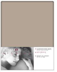 Bruine Good Morning Emotion Hoeslaken strijkvrij 180x200 cm taupe 0220.86.45