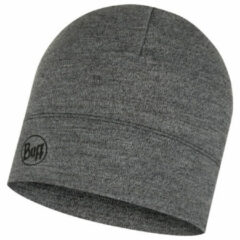 Buff - Midweight Merino Wool Hat - Muts maat One Size, grijs/zwart