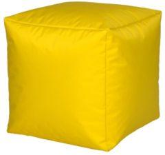 Sitzwürfel Hocker Sitzkissen Nylon gelb 40x40x40 cm Linke Licardo Gelb