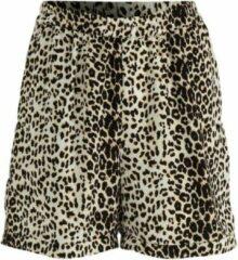 NA-KD high waist straight fit short met luipaardprint beige/zwart - 36, Zwart
