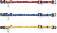 Beeztees Kitty Cat - kattenhalsbandje - Rood - 8 mm - 16-23 cm