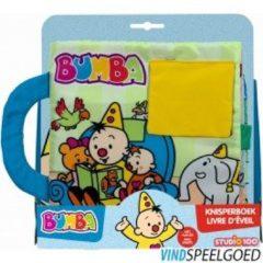 Bumba - Babyboekje - Groot stoffenboek - knisperboek met flapjes - stimuleert voelen, kijken en interactie