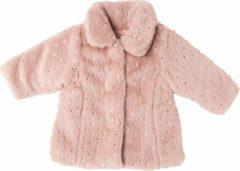 Roze Babybol Meisjes Winterjas Silver Stars - 86