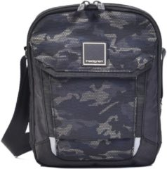 Zwarte Hedgren Crossbody Schoudertas Contact Black Camo Print