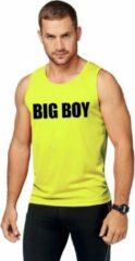 Shoppartners Neon geel sport shirt/ singlet Big boy heren XL