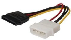 König Molex male/SATA 15p female, 0.15 m Intern 0.15m Molex (3-pin) SATA Multi kleuren