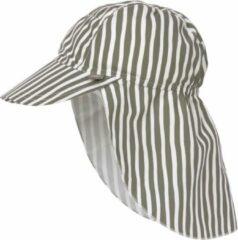 Lässig Splash & Fun Sun Protection Zonnehoed Flaphoed met UV bescherming - Stripes olive 19-36 maanden, Maat: 50/51