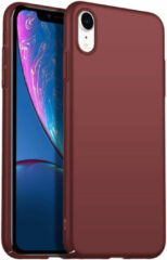Donkerrode Merkloos / Sans marque Back Case Cover iPhone Xr Hoesje Burgundy