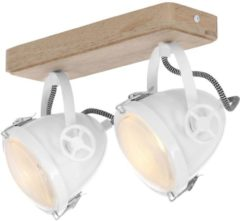 Mexlite Harve plafondlamp | tweelichts | inclusief LED lichtbron | dim to warm | 19 cm breed | wit