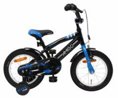 AMIGO BMX Fun S3 14 Inch 21 cm Jongens Terugtraprem Zwart/Blauw