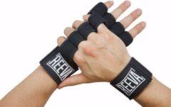 Zwarte Reeva Sporthandschoenen - Geschikt voor Fitness en CrossFit - Large