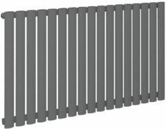 Antraciet-grijze Eastbrook Tunstall horizontaal radiator mat antraciet 600 x 589 mm (afgebeeld is de 600 x 1002mm)