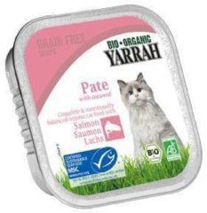 YARRAH (BIOLOGISCH) Yarrah Biologisch kattenvoer Alu kuipjes Pate Zalm 100 gram