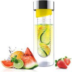 Asobu Flavour It Drinkbeker - Glas - Incl. Fruitinfuse - 480 ml - Geel/Zilver