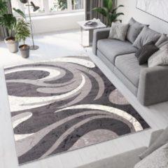 Tapiso Dream Vloerkleed Woonkamer Slaapkamer Donkergrijs Lijnen Golven Abstract Design Trendy Sfeervol Duurzaam Praktisch Hoogwaardig Tapijt Maat - 80 x 150 cm