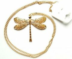 Tesoro Mio Michel Lange ketting met libelle hanger Rosegoudkleurig