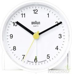 Witte Braun 66004 Quartz Alarm clock White Alarm times 1