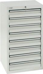 Stumpf Metall Stumpf® STS 410 Schubladenschrank mit 8 Schubladen, lichtgrau - 90 x 50 x 50 cm
