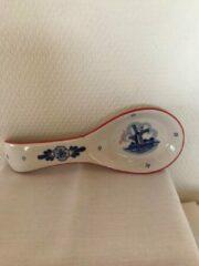 Lepel XL rood Ter Steege handgeschilderd Delfts blauw kado