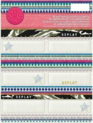 Roze Stationery Team Etiketten Replay Fashion 18 Stuks