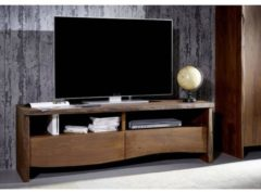 TV-Board LIVE EDGE Massivmoebel24 braun