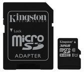 Kingston Technology GmbH Kingston Canvas Select - Flash-Speicherkarte (microSDHC/SD-Adapter inbegriffen) SDCS/32GB