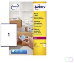 Avery L7167B-100 BlockOut zelfklevende etiketten QuickPeel, ft 199,6 x 289,1 mm (b x h), 100 etiketten