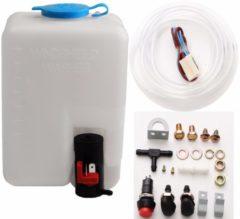 Meco 12V 1.8L Universal Motorcycle Car Wind Shield Washer Reservoir Pump Bottle Kit Jet Switch