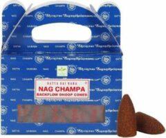 Bruine Satya Sai Baba Satya Nag Champa backflow (waterval wierook) cones