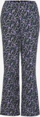 TwoDay dames broek met bloemenprint - Paars - Maat XXL