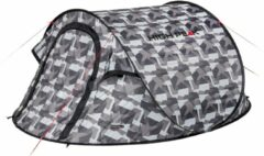 High Peak Pop Up Tent Vision 2 235 X 140 X 100 Cm - Grijs - 2 Persoons